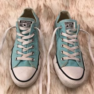 Converse All Star teal colored shoes